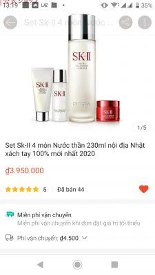 Lượng bán set SK-II nước thần 230ml