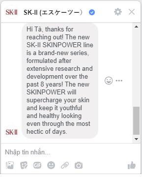 hãng sk-ii trả lời về SK-II Skinpower