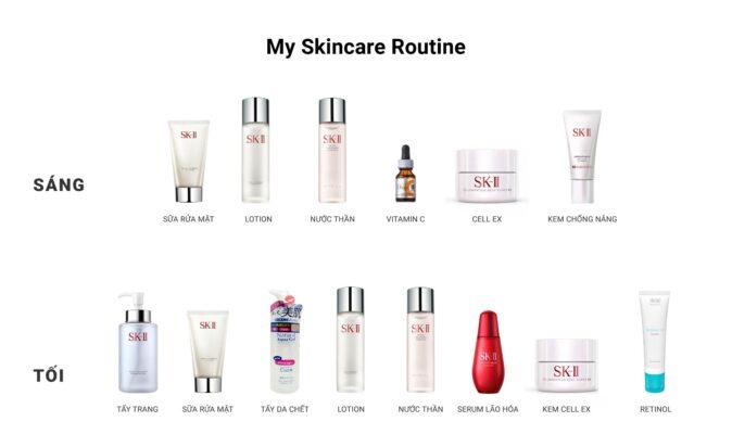 Chu trình chăm sóc da của bản thân Nhung - My skincare routine 1